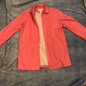 Jones NY pink rain jacket
